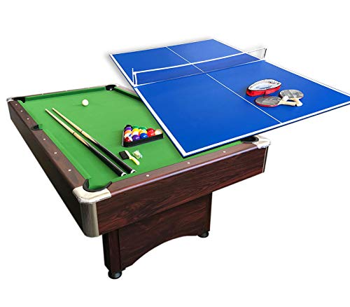 grafica ma.ro srl Mesa de Billar Juegos de Billar Pool 7 ft Carambola y Mesa de Ping Pong Mod. Sirio