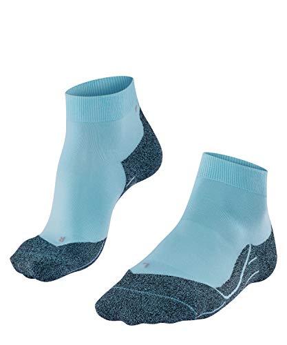 FALKE Damen W SSO Laufsocken RU4 Light Short-Funktionsfaser, Running Socken ohne Baumwolle, Blau (Turmalit 6802), 37-38