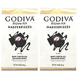 Godiva Belgium Masterpieces Dark Chocolate Ganache Hearts Valentines Day Chocolate Candy - Pack of 2...