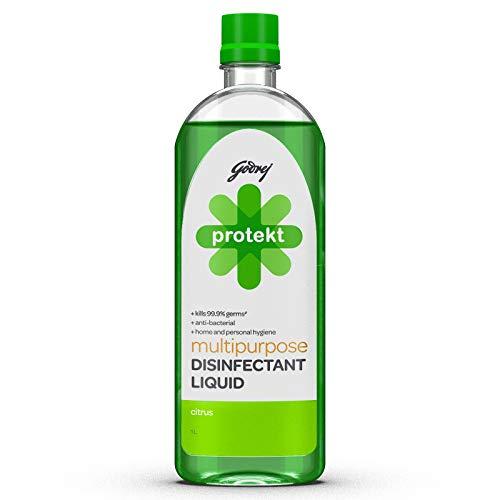 Godrej Protekt Multipurpose Disinfectant Liquid - Kills 99.9% Germs, Anti-bacterial, for Home...