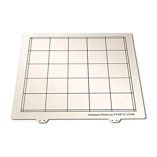 XBaofu 1pc 310 * 310mm Spring Steel Sheet Heat Bed Platform 3D Printer Printing Build Plate For Creality CR10 CR-10/10S 3D Printer Part