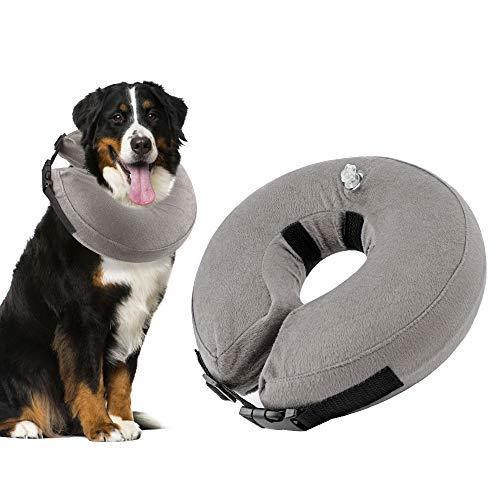 Nasjac Aufblasbares Halsband für Hunde, Weich einstellbar Bequemes Schnellverschluss-Hundekrapfenhalsband, Verhindern Sie, DASS Hunde Stiche berühren und die Wunde lecken, Blockiert Nicht die Sicht