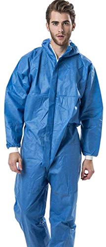 Tuta di Protezione Protezione dagli Agenti chimici Abbigliamento con Cappuccio Anti-Radiazioni Particelle di Polvere a Prova di Painted Tuta (Colore: 1PCS, Dimensione: XL)