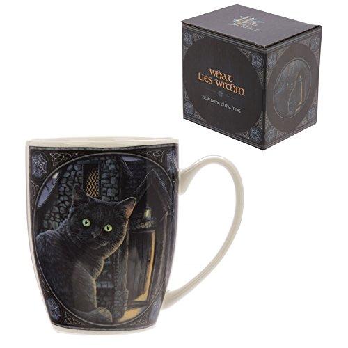 Puckator - Taza de desayuno, diseño de gato negro
