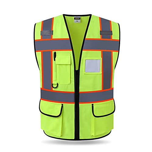 Chaleco de seguridad reflectante de alta visibilid Chaleco reflexivo de alta visibilidad, deportes al aire libre de seguridad reflectante de seguridad reflectante chaqueta chalecos de seguridad reflec