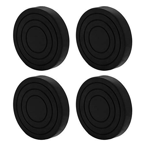 NLJYSH 4pcs Lavadora Prueba de Golpes de ratón Heavy Duty Lavadora Secado Pad Muebles Antideslizante del cojín (Color : Black)