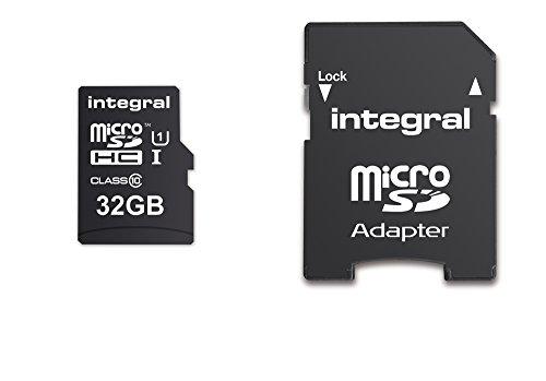 Integral microSDHC 32Go Carte Mémoire UltimaPro Haute Vitesse jusqu'à 90 Mb/s, Classe 10, UHS-I, U1 + Adaptateur SD