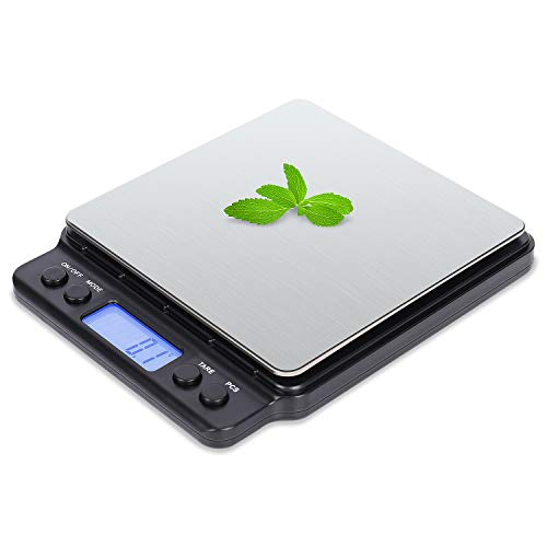 VOVOLY Food Digital Kitchen Scale 3000g01g001oz High Accuracy Multifunction Precision Scale Kitchen Sclae Grams - 01g Spice Coffee Scale 01g Batteries Included