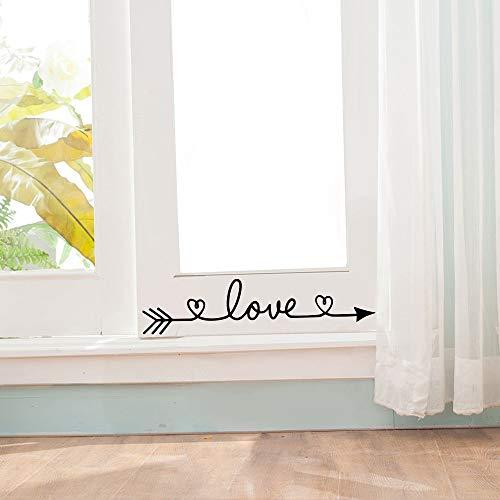 Jsnzff Amor Pegatinas de Pared Dormitorio Sala de Estar decoración del hogar Muebles Pegatinas de Pared Mural Vinilo Papel Tapiz Decorativo 13x58cm