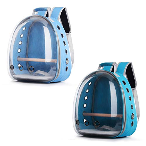 huihuay Pet Parrot Carrier, Vogel Travel Bag Space Capsule Transparent Backpack-atmungsaktiv Und 360 ° Sightseeing Mit Stand Barsch