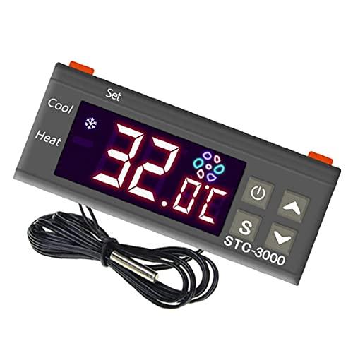 EElabper Controlador de Temperatura Digital STC-3000 TERMOSTAT para FERMENTACIÓN EQUIPA DE FREOZO DE Agua DE FREEZO 24 V