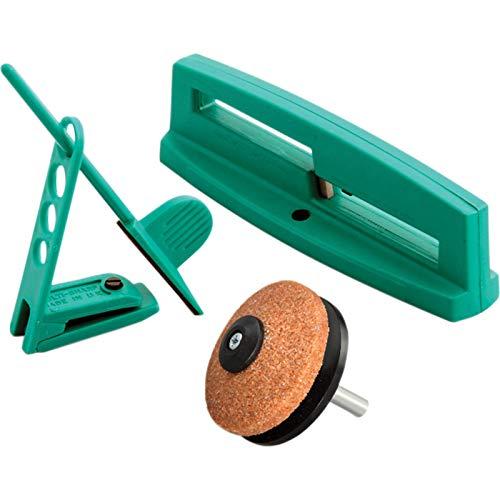 Multi-Sharp 1801 Mehrzweck-Messerschärfer-Set für Gartenwerkzeug wie Sichelmahermesser, Gartenscheren, Astscheren, Rosenscheren und Äxte