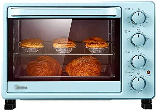 25L Mini horno eléctrico Hornos de tostadora Temperatura ajustable Temperatura Doble Vidrio Puerta de recirculación 3D 1400W-25L