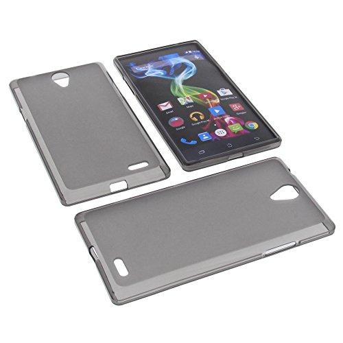 foto-kontor Tasche für Archos 55 Platinum Gummi TPU Schutz Hülle Handytasche grau
