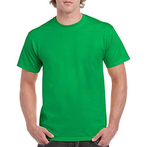 Gildan Men's Heavy Cotton T-Shirt, Style G5000, 2-Pack, irish green, Medium
