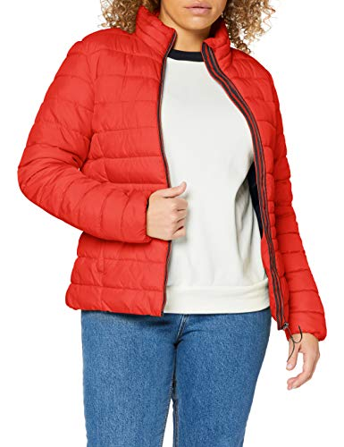 TOM TAILOR Damen Ultra Light Jacke, 11025-Strong Red, L