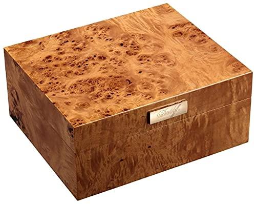 Caja de cigarros Portátil de múltiples Capas Deshumidificación refrigerada de Gran Capacidad Humidificación de Pintura de Piano Gabinete para Fumar silencioso Caja Decorativa (Color: Marrón, Tamaño: