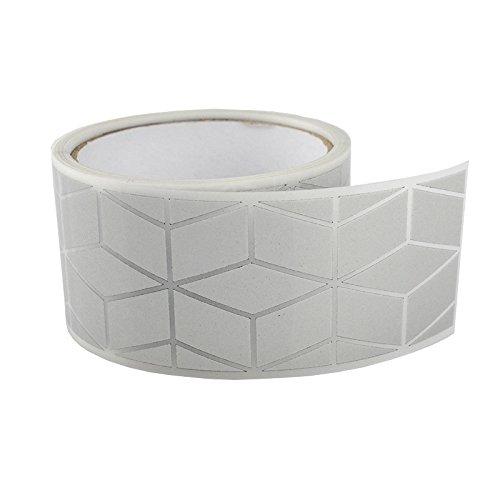 2 Safety Silver Reflective Iron on Fabric Clothing Tape Stripe Heat Transfer Vinyl Film M12 (2 x 33ft)