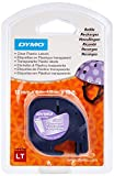 Dymo LetraTag etichette in plastica, rotolo da 12 mm x 4 m, stampa nera su trasparente, S0...