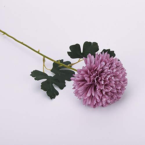Jun7L 2 Stücke Künstliche Blumen Gefälschte Blumen Silk Hydrangea Brautstrauß für Wohnkultur Garten Party Arrangement Hochzeitsdekoration Lila 56.5X11CM