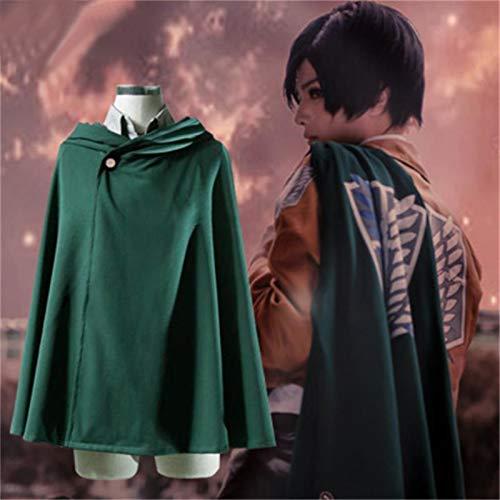 DONGYAO Anime Fantasia Chaqueta Shingeki No Kyojin Coat Legion Cosplay Traje Abrigo (Color: Falda PU, Talla XXL)