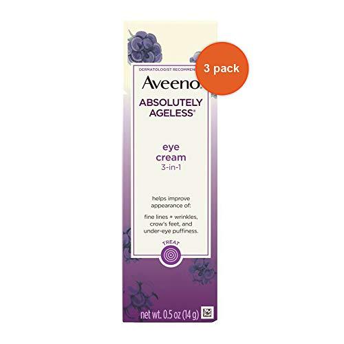 Aveeno Absolutely Ageless Eye Cream 0.5 Ounce (14ml) (3 Pack)