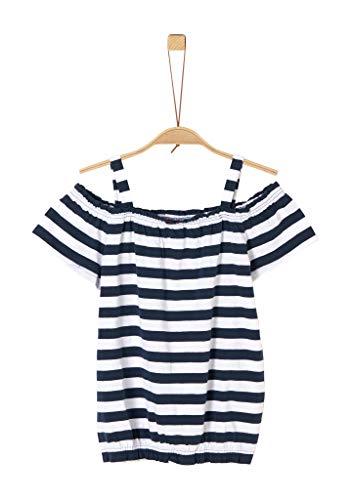 s.Oliver Junior 401.10.004.12.130.2037973 T-Shirt, Mädchen, Blau M REG