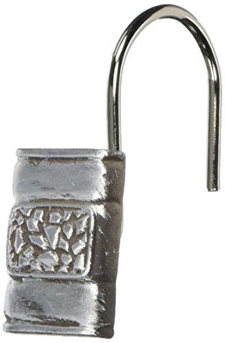 Carnation Home Fashions, Inc PHP-SEN/03 Seneca Resin Shower Curtain Hooks in Silver