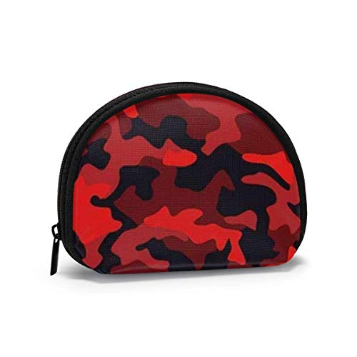 Camo Texture Abstract Modern Camouflage Women Girls Shell Cosmetic Make Up Storage Bag Outdoor Shopping Coins Wallet Organizer