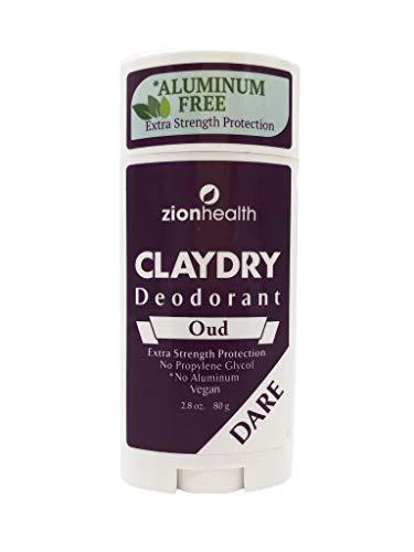 Zion Health Clay Dry Dare Deodorant Stick 2.8 oz Oud