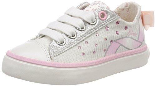 Geox JR Ciak Girl A, Scarpe da Ginnastica Basse Bambino, Bianco (White/lt Pink), 30 EU