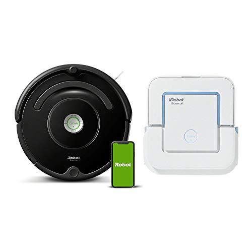 iRobot Roomba 675 Wi-Fi Connected Robot Vacuum Cleaner with Braava 240 Wet Jet Mop Bundle (2 Items)