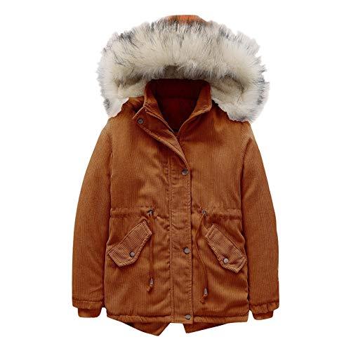 冬のコート、暖かい冬の子供用無地コーデュロイパーカージッパージャケット暖かいジャケットの服