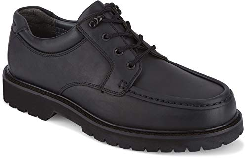 dockers Mens Glacier Leather Rugged Casual Oxford Shoe, Black, 11 M