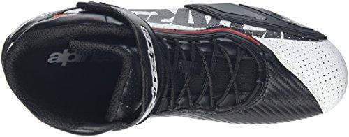 Alpinestars FASTER 2 VENTED Herren Motorradschuh Mikrofaser – schwarz weiss rot Größe 44 - 7