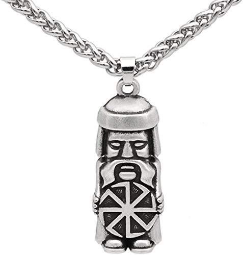 NC122 Perun Slavic God of Thunder Colgante y Lightning Slav Mitología Pagan Viking Warrior Tribal Collar para Hombre