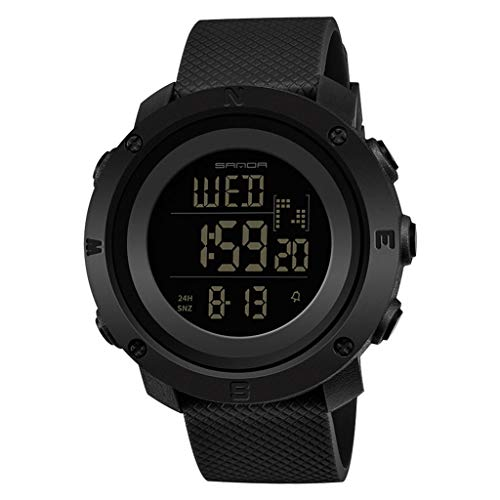 LUXISDE Digital Watches Mens Sports Watch Waterproof Wrist Fashion Trend Watch Youth Couple Clock Women