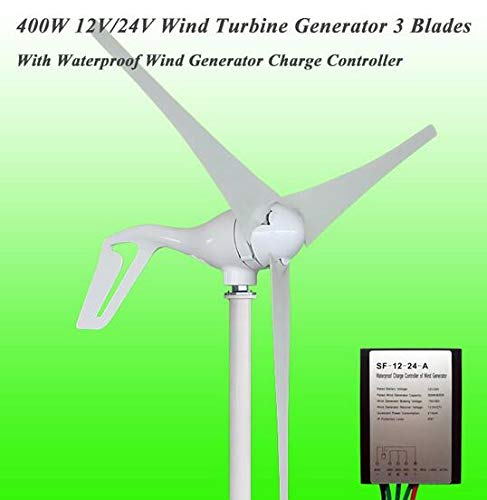 MEIGONGJU Venta Grande 3/5 de turbina de Cuchilla Opciones de 400W 12V / 24V pequeña Fuente del generador de imán Permanente generador de Viento para el hogar Iluminación, Barcos