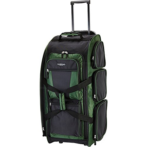 "Travelers Club Xpedition 30"" Rolling Travel Duffel Bag, Forest Green, 30 Inch"