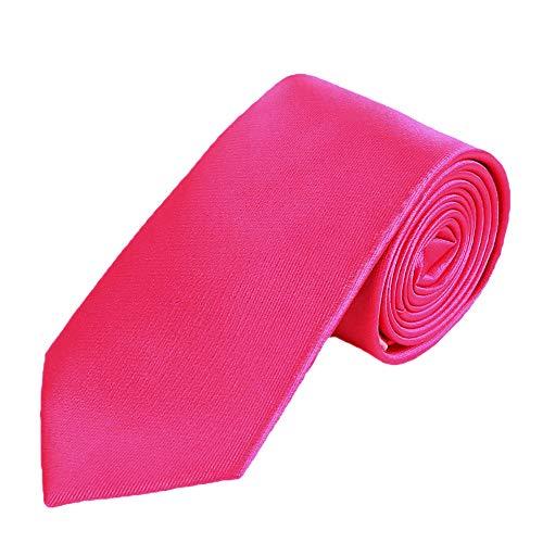 DonDon hombres corbata 7 cm business professional classica hecho a mano rosa para la oficina o eventos festivos