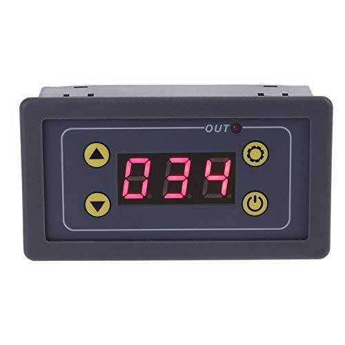PLBB3K Küchen Timer Digitale Zeitrelais Zyklus-Timer-Bedienschalter einstellbare Zeitrelais Zeit schwarz Kochen und Backen (Color : Black)