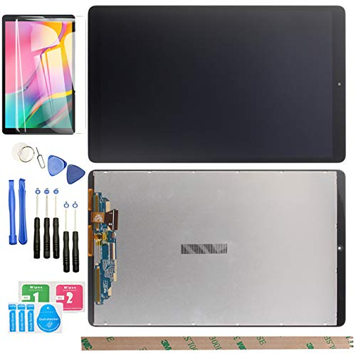 HYYT Replacement LCD for Samsung Galaxy Tab A 10.1 2019 SM-T510 LCD Display Touch Screen Digitizer Assembly with 1Piece Tempered Film + Tools (Black)