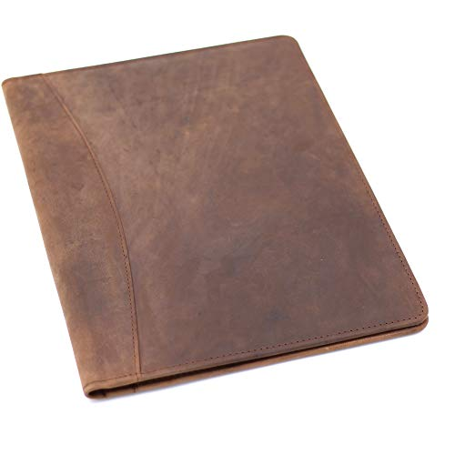 Genuine Leather Professional Padfolio Portfolio - Resume Folder with...