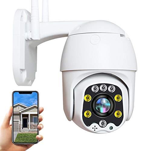AINSS WiFi IP Cámara Exterior HD 1080P WiFi PTZ Vigilancia Cámara Exterior,30M Visión Nocturna,IP66 Impermeable,Audio Bidireccional,Alerta E-Mail,Control de App,Detección de Movimiento 【WiFi-Cámara】