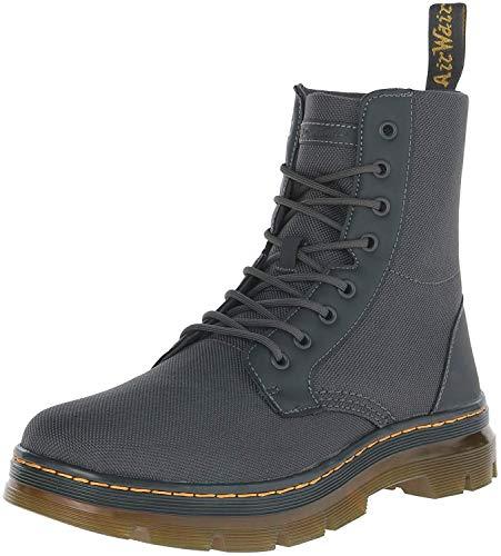 Dr. Martens Men's Combs Extra Tough 50/50 Combat Boot, Charcoal, 8