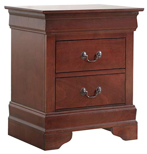 Glory Furniture Hammond Bedroom Furniture, 2 Drawer NightStand, Cherry