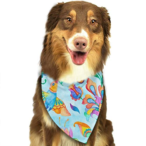 Paisley Aquarel Bloemenpatroon Tegel Bloem Traditionele Hand Schilderij Hond Kerndoek Halsdoek Set Geschikt voor Kleine tot Grote Hond Katten