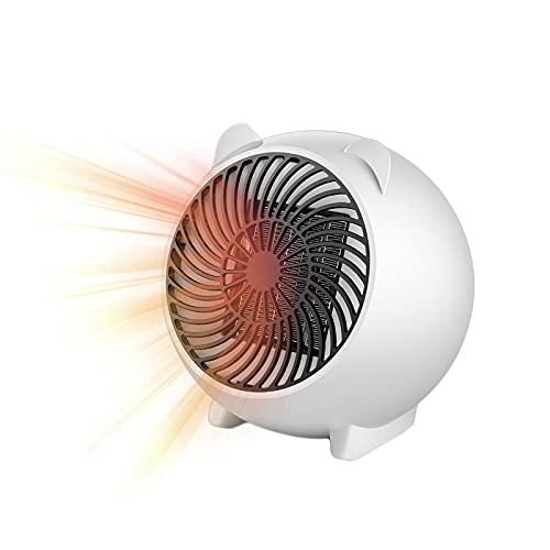 YCRD Mini Calefactor, Calefactor Bajo Consumo, Portatile Calefactor BañO, 500W Calefactor de Aire Caliente, 110-220v Control de Termostato para Sala Cuarto Oficin