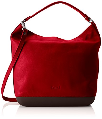 Think! Damen Tasche_282812 Schultertasche, Rot (Rot 29), 12x33x38 cm