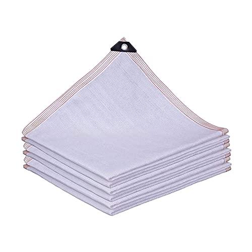 ASDASD Shade Net White Sunblock Shade Cloth Shade Sails 85% Sunscreen Shade Cloth, 8 Pines Tejido Patio Balcón Flores Planta Sun Room Shading Net Malla Lona (Color: Blanco, Tamaño: 4x6m)